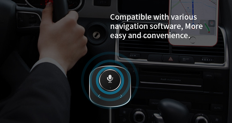 Eson Style Alexa C1 bluetooth Receiver Smart Voice Control Car kit Receiver for Mobile Phone