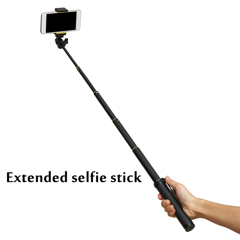 Portable Extension Rod Selfie Stick Tripod Suit For OSMO Mobile 1/2 bluetooth Control