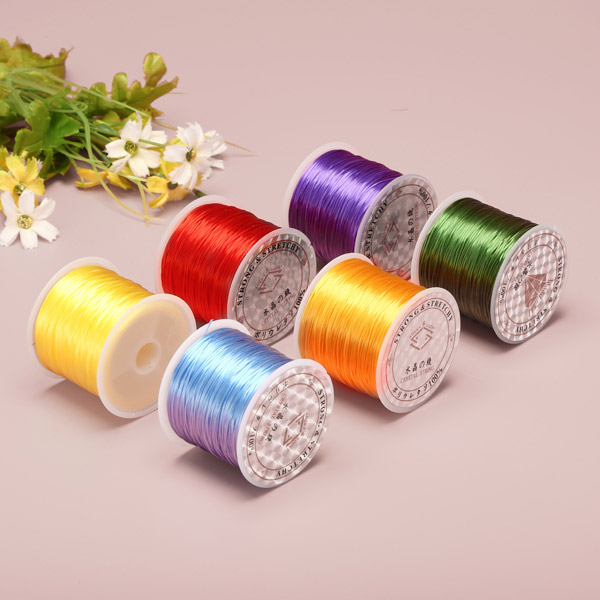 50m 0.6mm DIY Crystal Beads Elastic Rope String Line Design Repair Jewelry Accessories