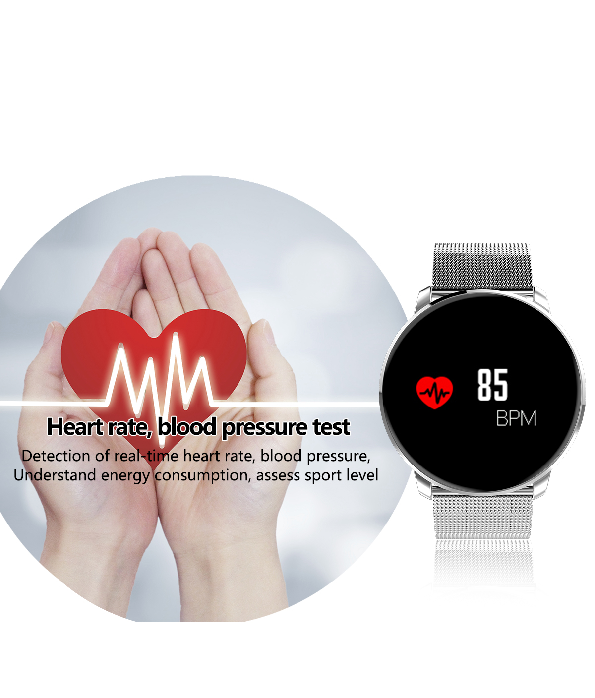 LYNWO M9 0.96inch Heart Rate Blood Oxygen bluetooth Smart Bracelet
