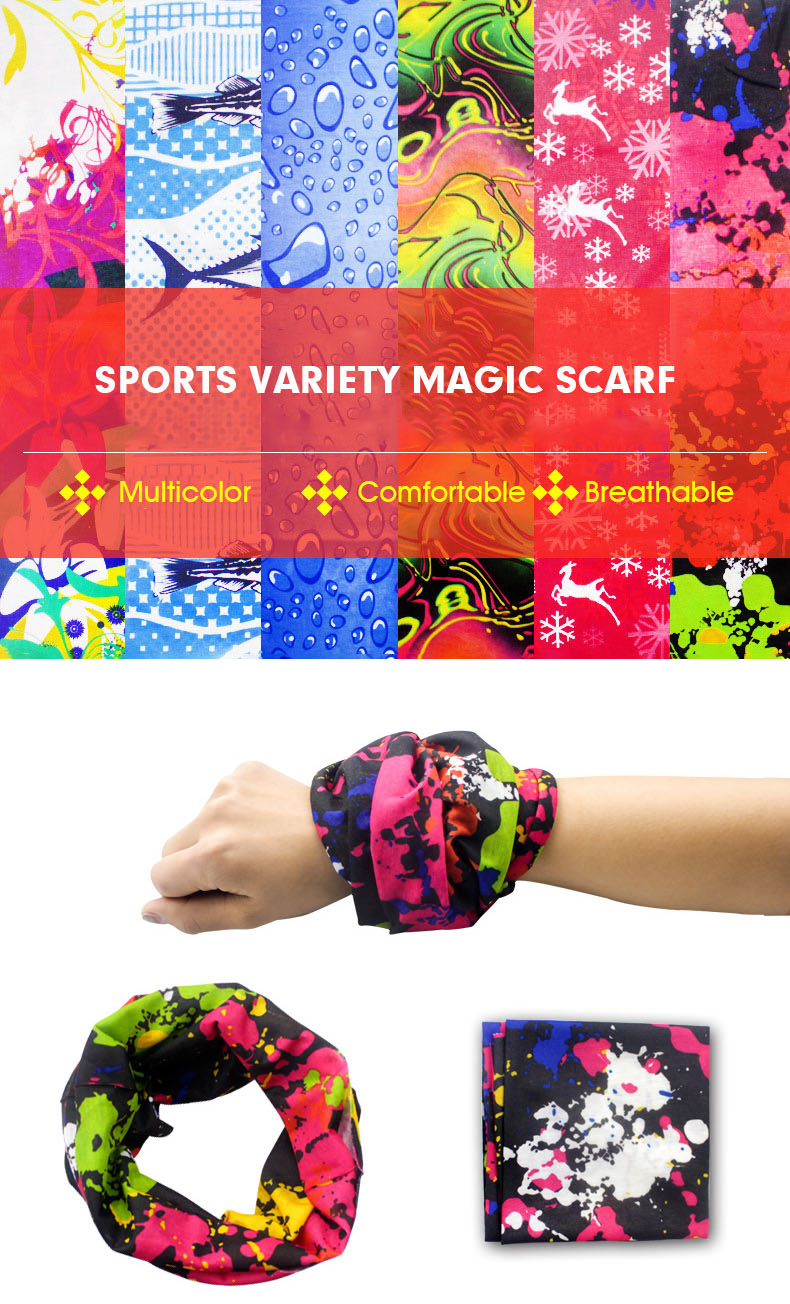 Elastic Hand Towel Sunshade Female Neck Magic Scarf Outdoor Riding Sport Head Beach Towel
