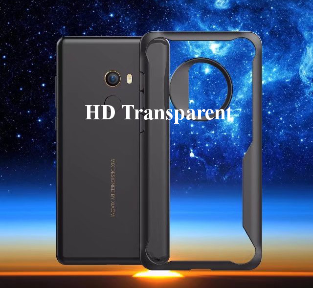 Bakeey Luxury Transparent Anti Fingerprint Silicone Acrylic Back Protective Case For Xiaomi Mi Mix 2