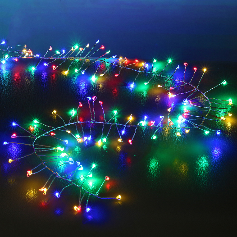 ARILUX® Battery Powered DC4.5V 2M Warm White Colorful LED Silver Firecracker String Holiday Light
