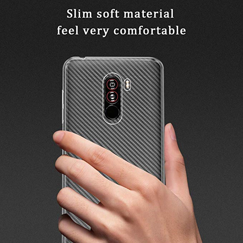 Bakeey™ Transparent Shockproof Soft TPU Back Cover Protective Case for Xiaomi Pocophone F1