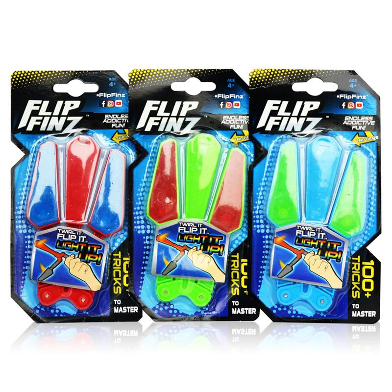 Flip Finz Stress Reliever Improve Focus Novelties Toys Hand Training Anti Stress Gadgets Light Up