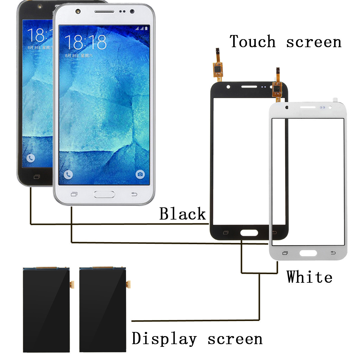 LCD Display Touch Screen Digitizer Replacement LCD Screen for Samsung Galaxy J5 SM-J5008