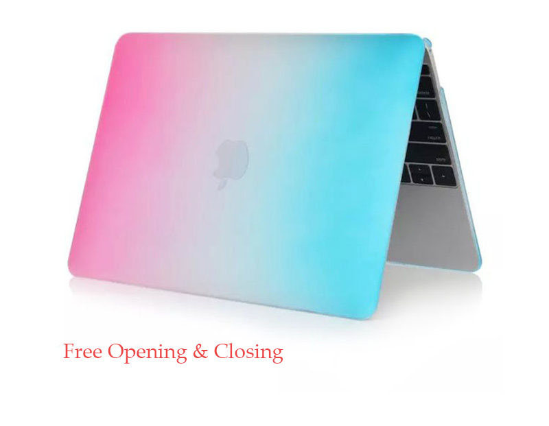 Gradient Color Ultra Slim Light Weight Scratch Proof Rainbow Case Cover For Macbook Air 11.6 Inch