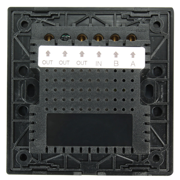 AC 250V Tempered Glass Wall Switch Panel - Two Switch Double Control