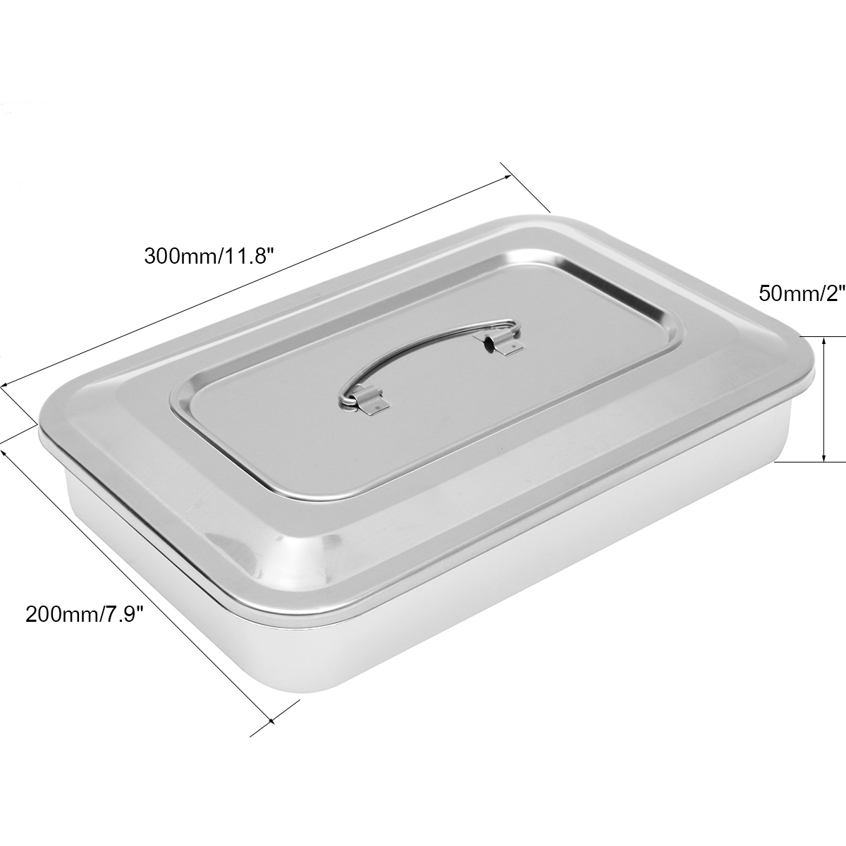Stainless Steel Tray Instrument with Lid for Lab Dental