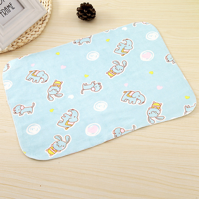 Double-sided Crystal Insulation Pad Newborn Baby Supplies Waterproof Pad Three-layer Washable Pad Adult Menstrual Aunt Pad