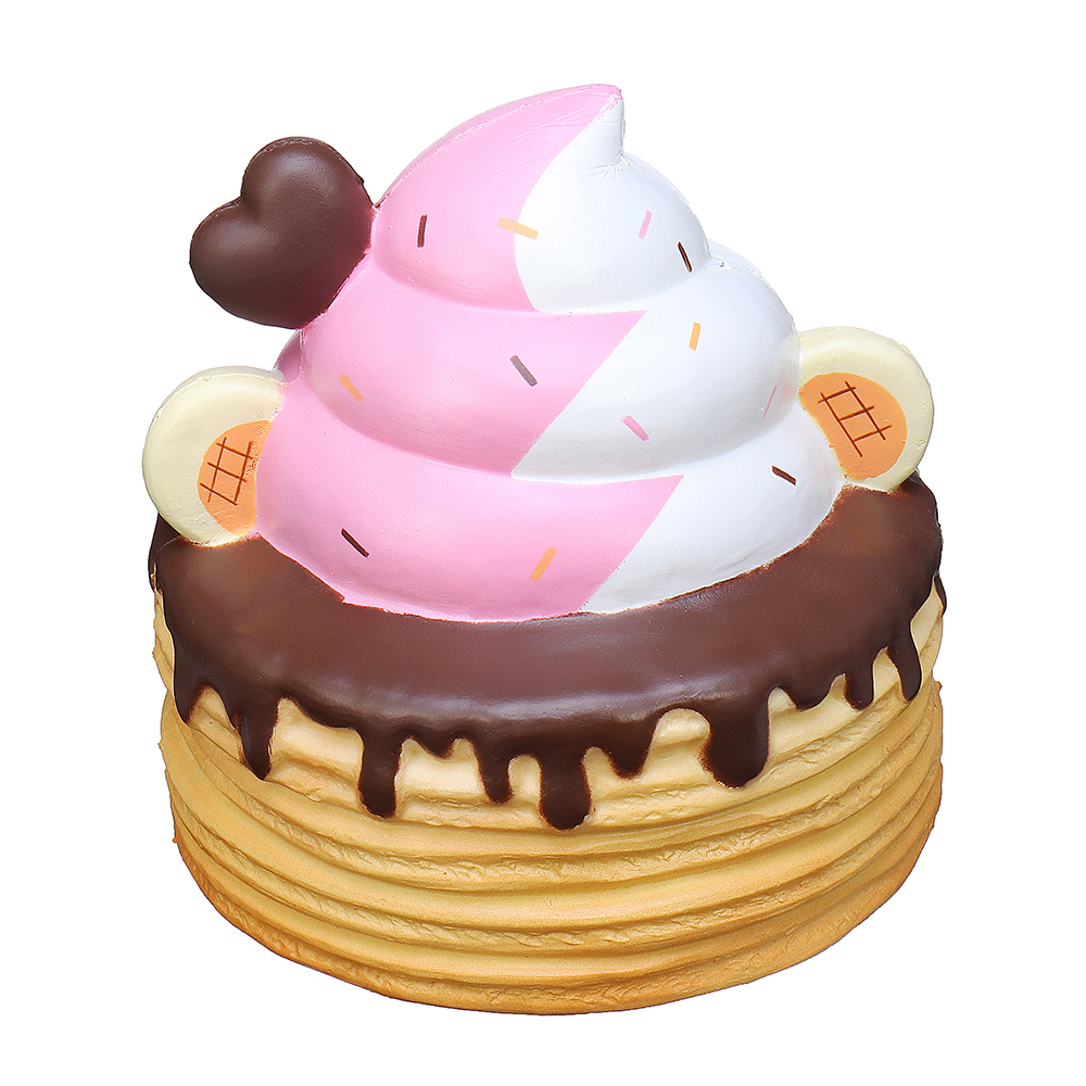 Yummiibear Giant Ice Cream Pancake Squishy 25CM Creamiicandy Punimaru licensed Slow Rising With Packaging