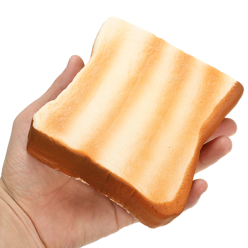 Meistoyland Squishy Bread Toast Slice With Egg Slow Rising With Packaging Gift D