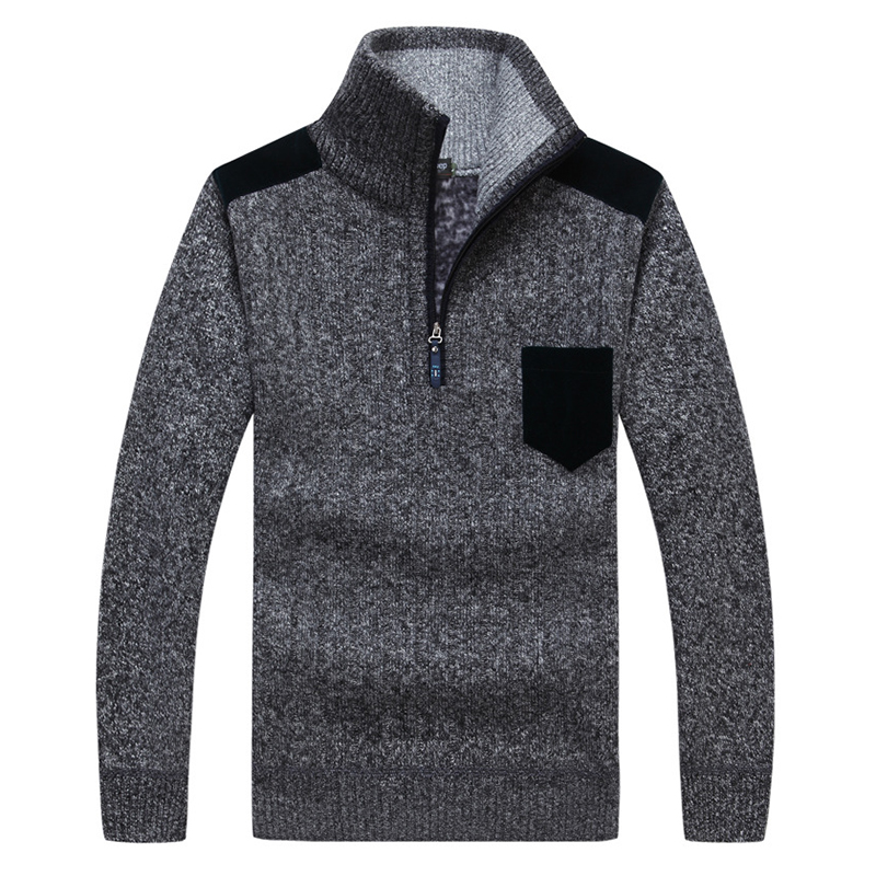 Mens Wool n Casual Pullover High Collar Sweaters