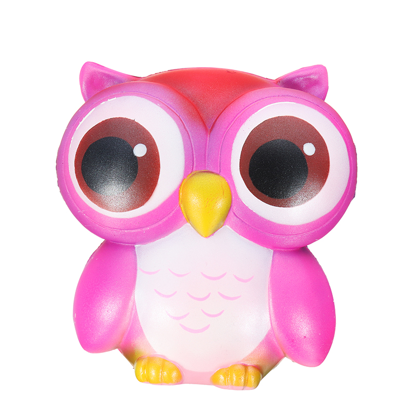 SanQi Elan Squishy Owl 15cm Gift Soft Slow Rising With Packaging Cute Animals Collection Decor Toy
