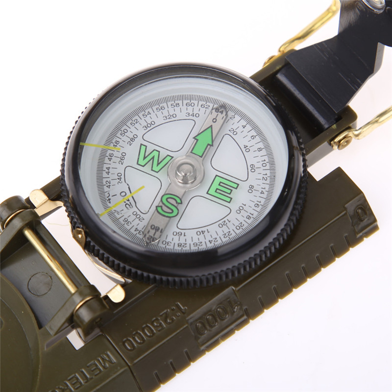 IPRee® Waterproof Luminous Compass American Multifunctional Folding Pointer Guide 1:25000 Map Scale