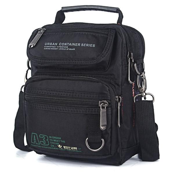 Waterproof Nylon Men Crossbody Bag Outdoor Large Capacity Shoulder Bag