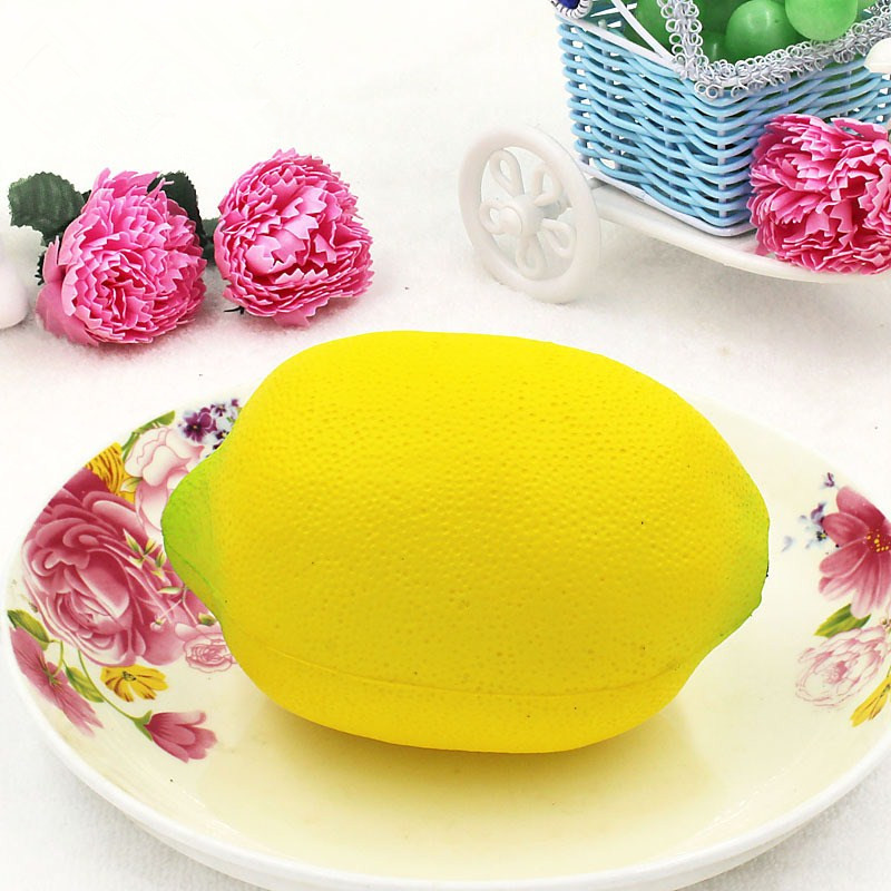 Squishy Yellow Lemon 12cm Big Soft Slow Rising Fruit Collection Gift Decor Toy
