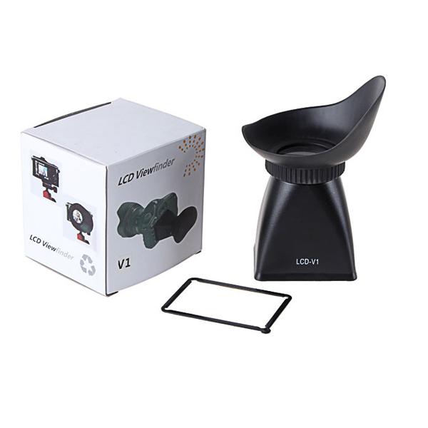Optical Glass V1 LCD Monitor Viewfinder 2.8X Magnifier Eyecup Camera Sunshade Hood DSLR 500D 7D 5D Mark II D700 D800