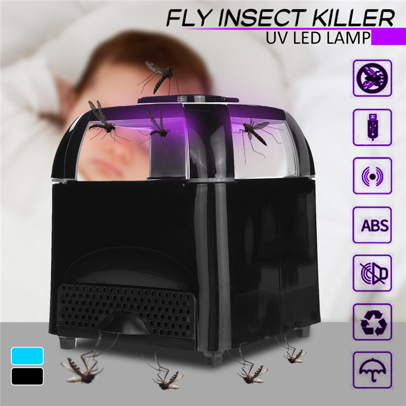 5W Electronic USB Mosquito Insect Killer Lamp Anti-Mosquito Trap Insect Bug Fly Zapper LED UV Light