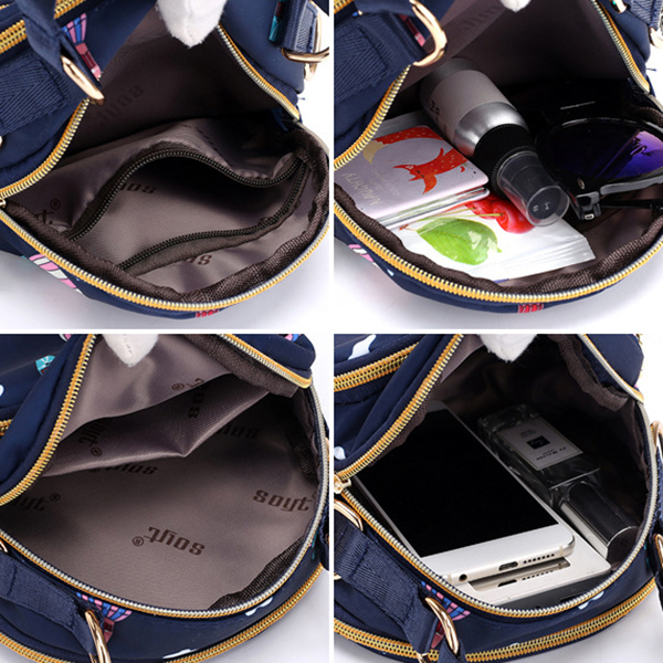 Women Galaxy Pattern Nylon Waterproof Shell Bags