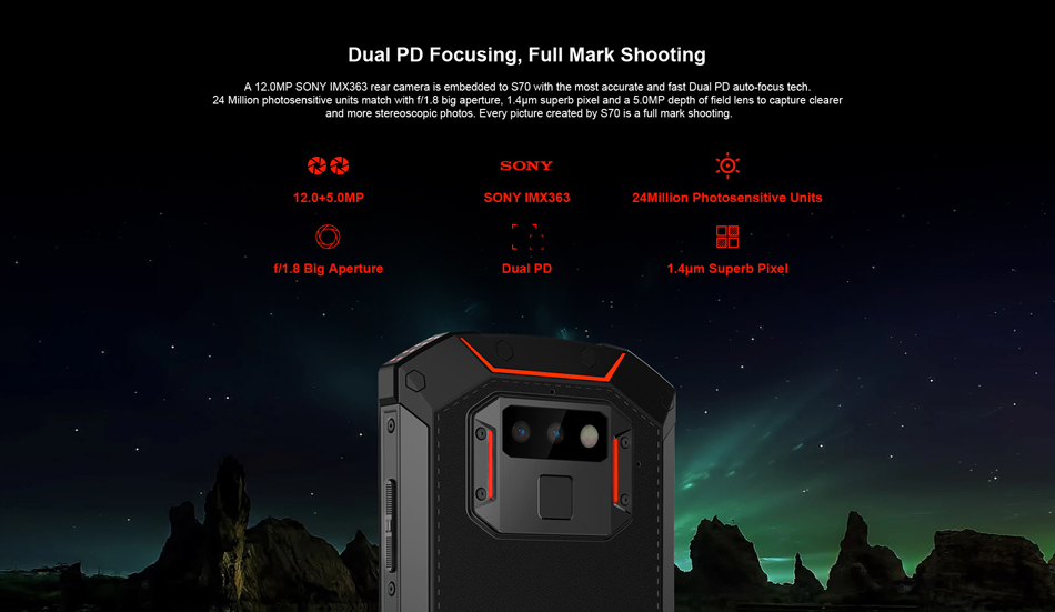 DOOGEE S70 Global Bands 5.99 Inch 5500mAh NFC 6GB RAM 64GB ROM Helio P23 4G Gaming Rugged Smartphone