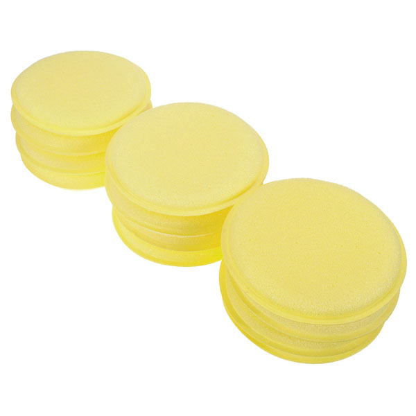 12Pcs Hand Soft Waxing Cleaning Polish Round Buffing Beauty Car Auto Washing Foam Sponge Applicator Pad Tools