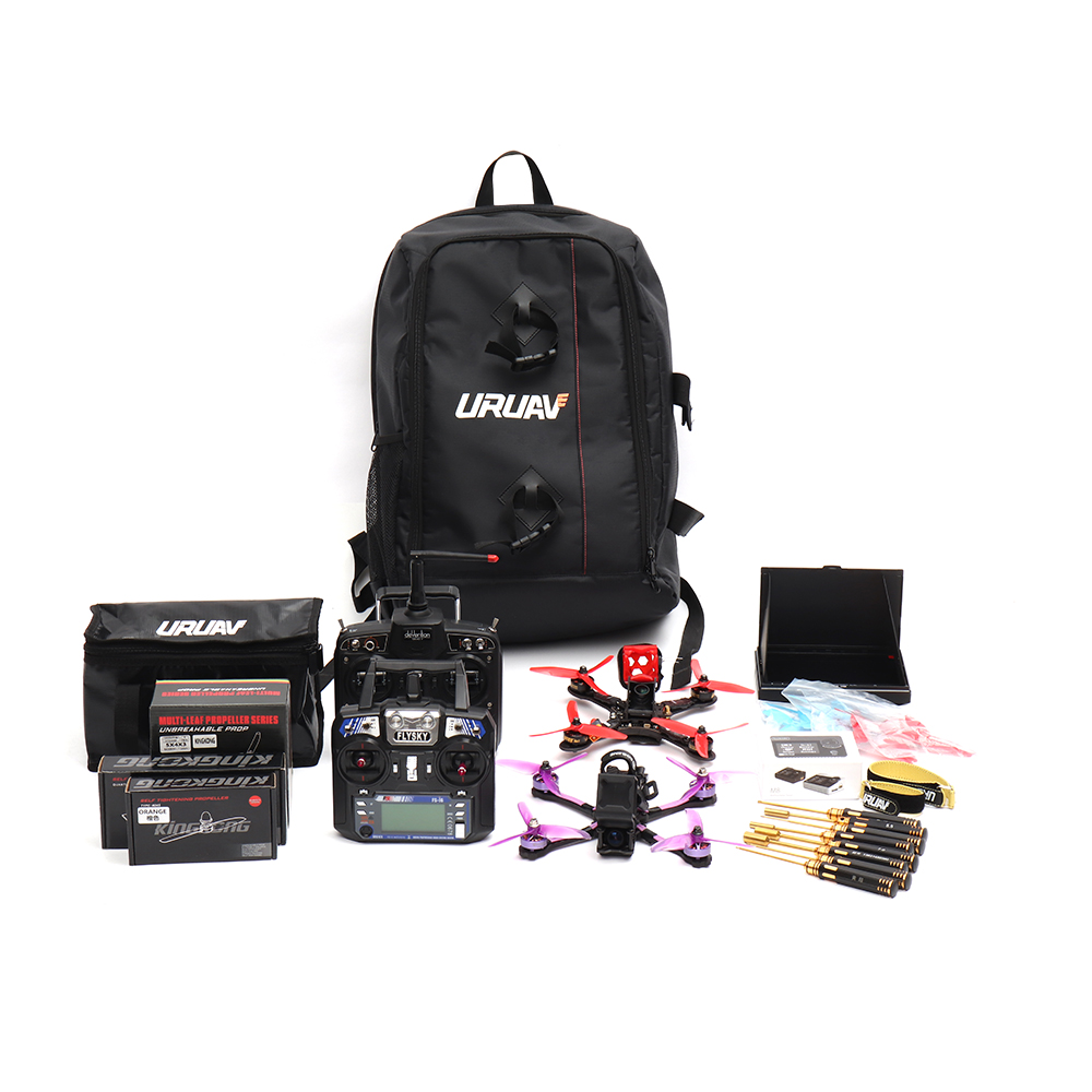 URUAV UR7 Backpack 40x55x22mm with Waterproof Transmitter Beam Port Bag DIY Room for RC Drone FPV Racing - Photo: 8