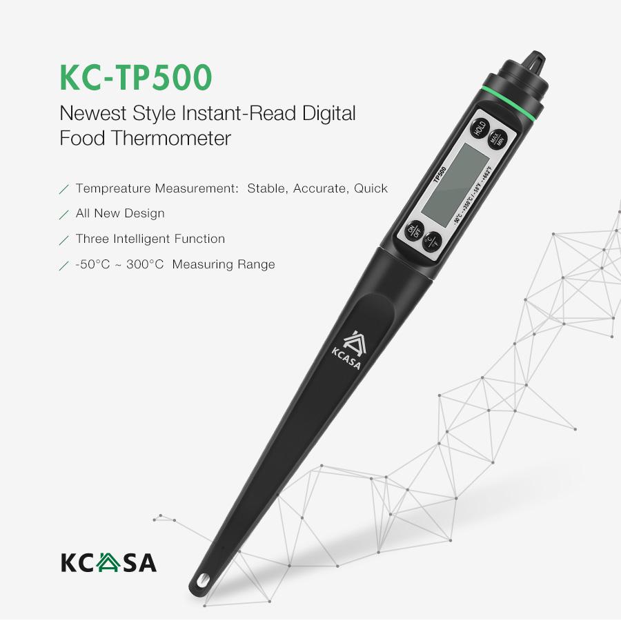KCASA KC-TP500 Форма Ручки Высокопроизводительный цифровой Термометр барбекю с мгновенным чтением для кулинария и мясной пищи