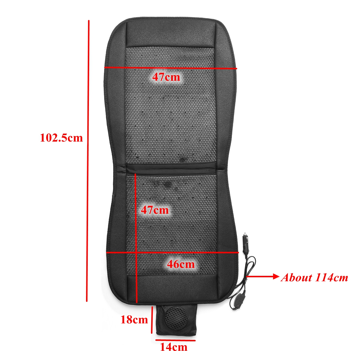 12V Cooling Car Seat Cushion Cover Conditioned Cooler Pad with Air Ventilated Fan