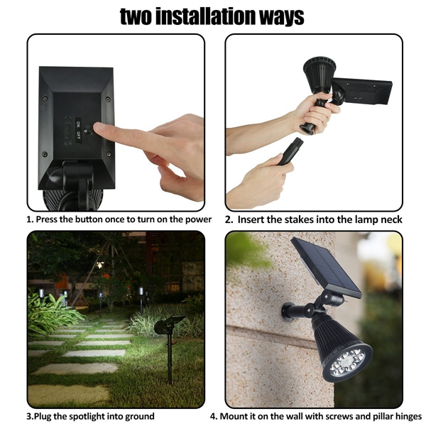 4W Solar 6 LED PIR Motion Sensor Flood Light Outdoor Landscape Lamp for Lawn Yard Garden
