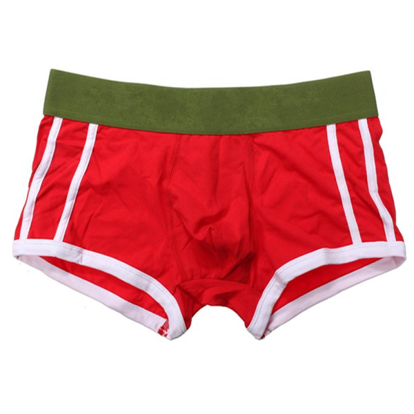 Fashion Mens Casual Briefs Solid Boxer Shorts Cotton Underpants