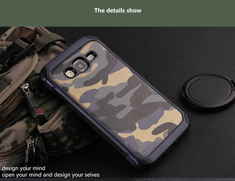 NX CASE Camouflage Shockproof Cover TPU PC Back Case Protective Shell for Samsung Galaxy J2 2015