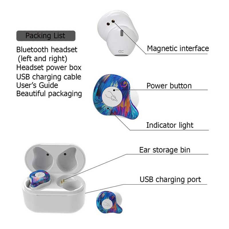 [bluetooth 5.0] Sabbat X12 Pro TWS bluetooth Earphone HiFi Pure Color Stereo Headphone with Dual Mic
