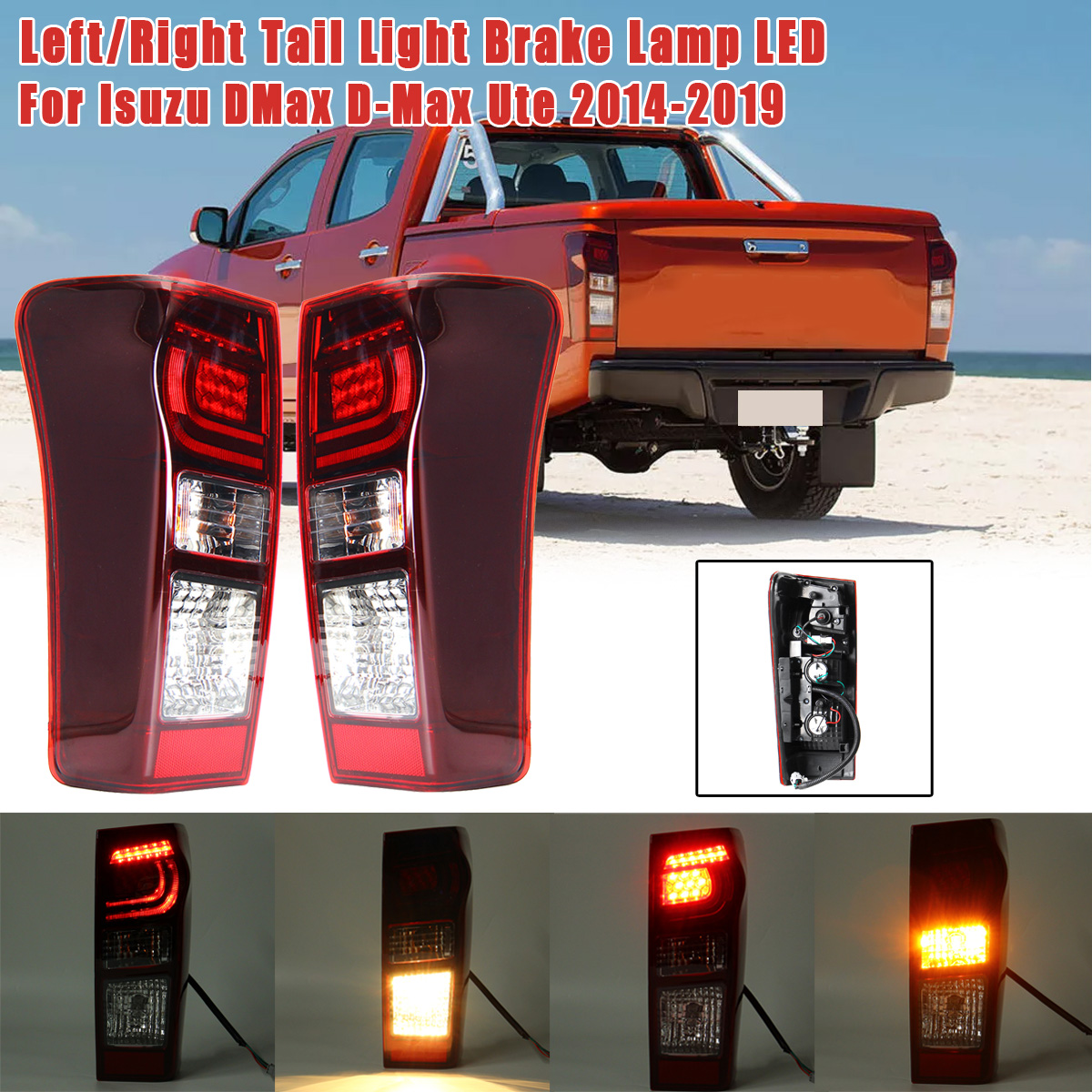 Car LED Rear Tail Light Brake Lamp with Blub For Isuzu DMax D-Max Ute 2014~2019 8961253983 898125393