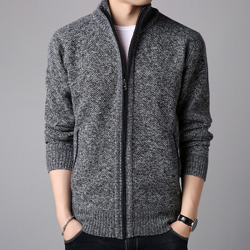 Купить со скидкой Men's Wool Casual Breathable Comfy Fit Cardigans
