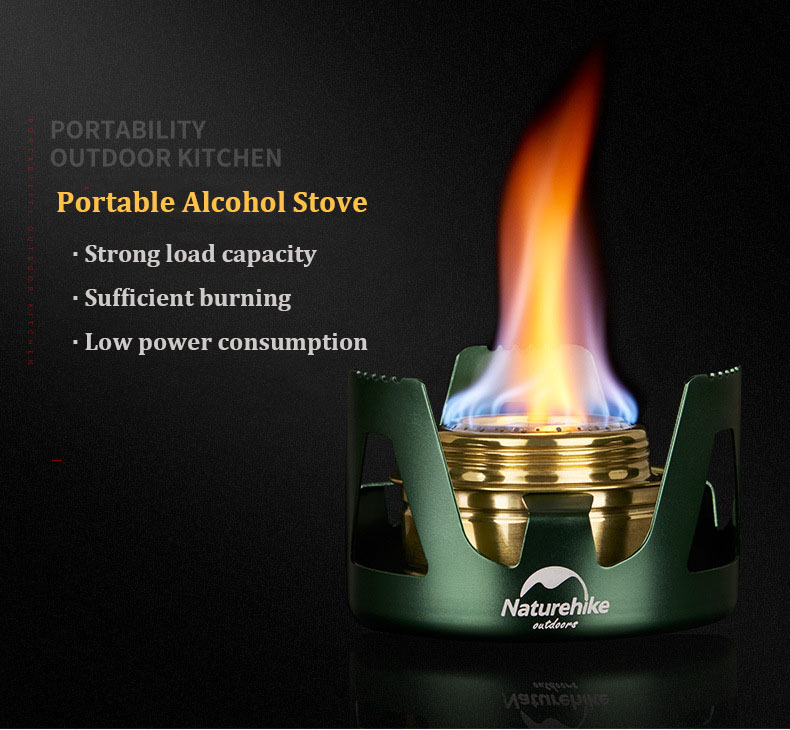 Naturehike NH18L001-T Alcohol Cooking Stove Camping Picnic Mini Ultralight Spirit Burner Cooker