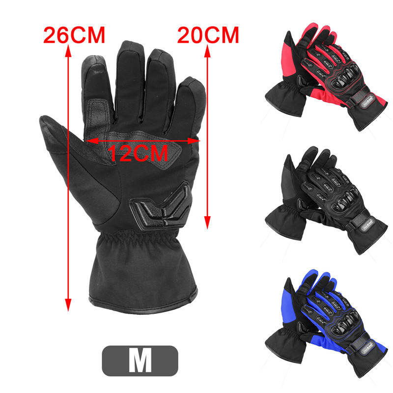 Motorcycle Gloves Winter Warm Waterproof Windproof Protective Glove