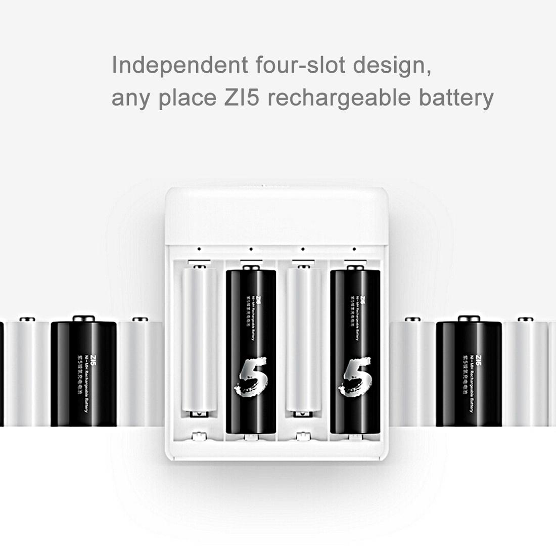 New Original Xiaomi Z15 Z17 4slots Rapid Smart Mini NI-MH AA AAA Battery Charger