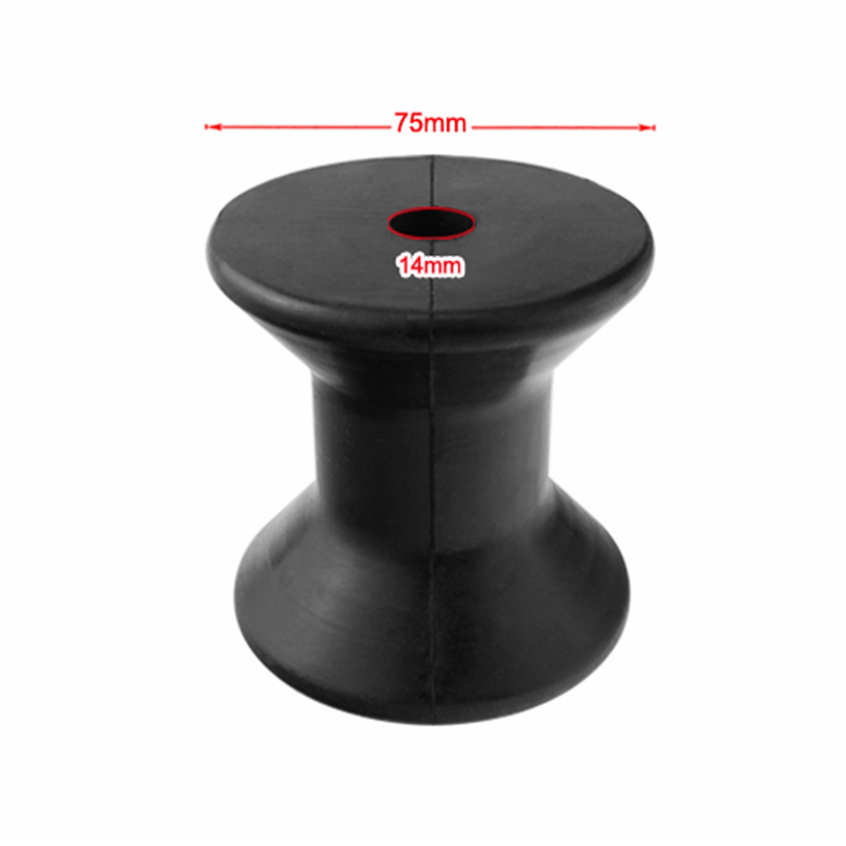 BSET MATEL Anti-UV Wheel 3inch Mounting Width Boat trailer Bow Stop Roller Black Rubber Spool Boat Yacht Marine Accessories