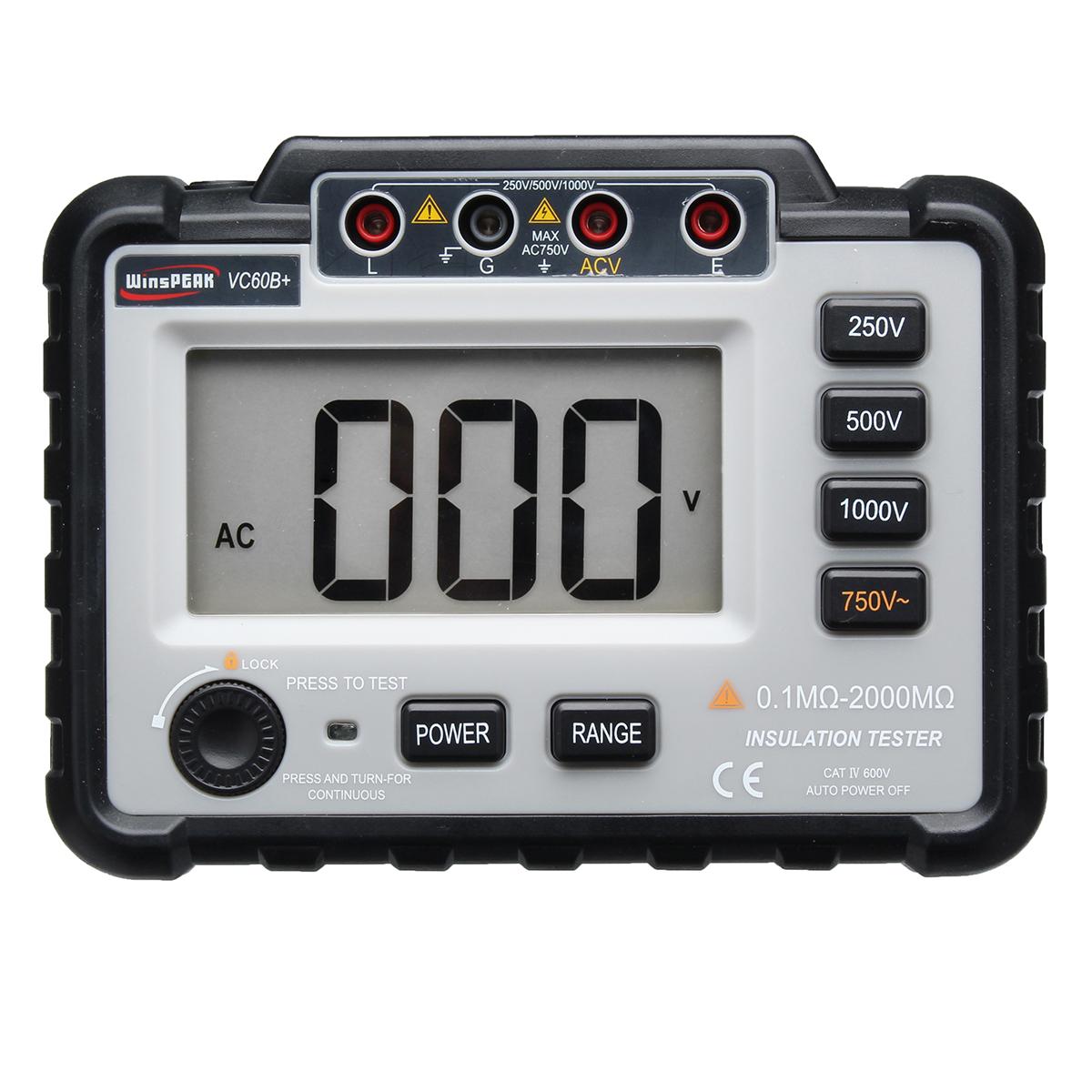 VC60B+ Digital Insulation Resistance Tester Megger MegO