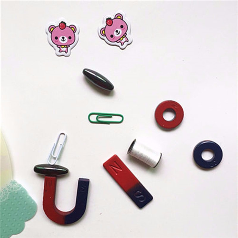 Magnets Field Scool Kids Teaching Education Tool Set Horseshoe Magnetic Ring Toys