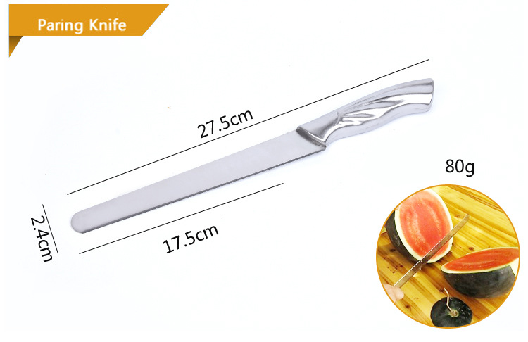 Stainless Steel Knife Set of Kitchen Knives Gift Chef Knives Eight Piece Meat Fruit Vegetable Anti-Slip Handle