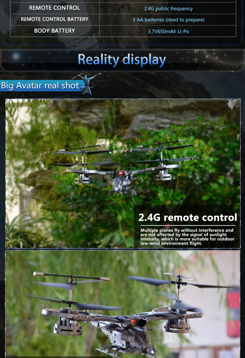 ATTOP YD711S Avatar 2.4G 4CH Twin Propeller Fine Tuning Function RC Helicopter RTF