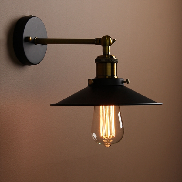 Vintage Loft Industrial Edison E27 Wall Lamp For Bedroom Balcony Entrance
