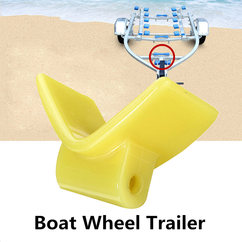 3 Inch Boat Wheel Trailer V Seat Yacht Accessories Yellow
