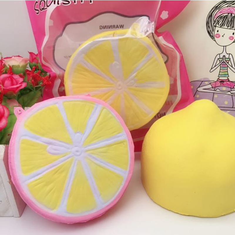 Squishy Half Lemon Soft Toy 10cm Slow Rising With Original Packaging Birthday Festival Gift