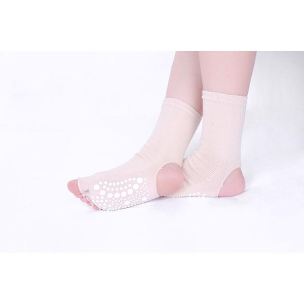 Women Men Five Finger Toes Yoga Socks Bare Heel Toes High Tube Non-Slip Cotton Stocking