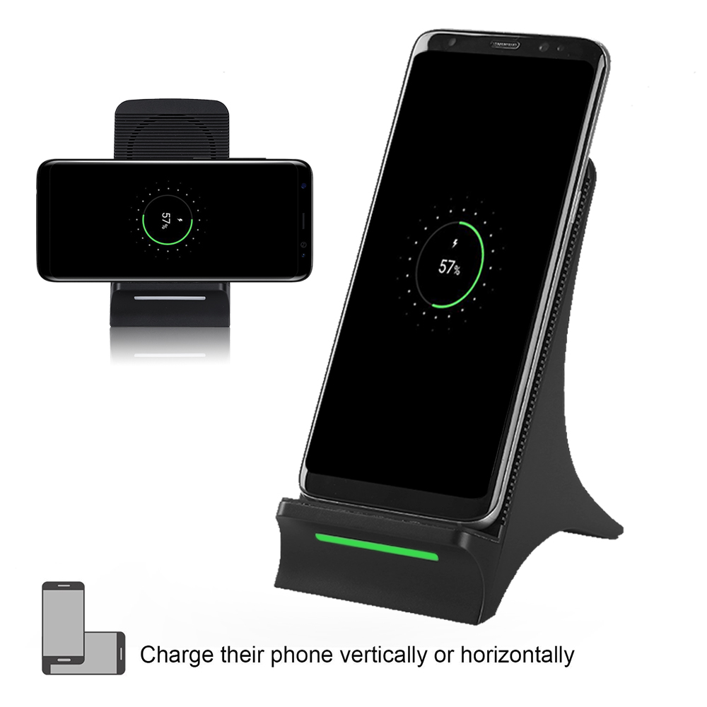 Fan Heat Dissipation Qi Wireless Charging Stand Wireless Charger for Samsung Note 8/Note 7/S8/S8