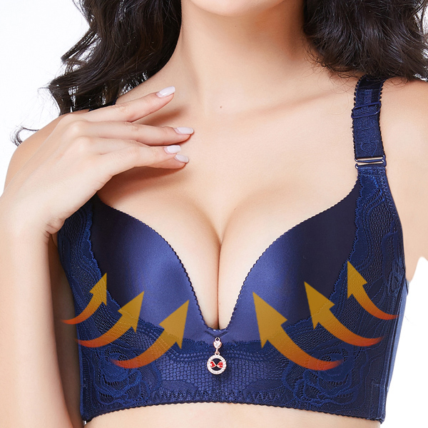Push Up Deep V Massage Brassiere