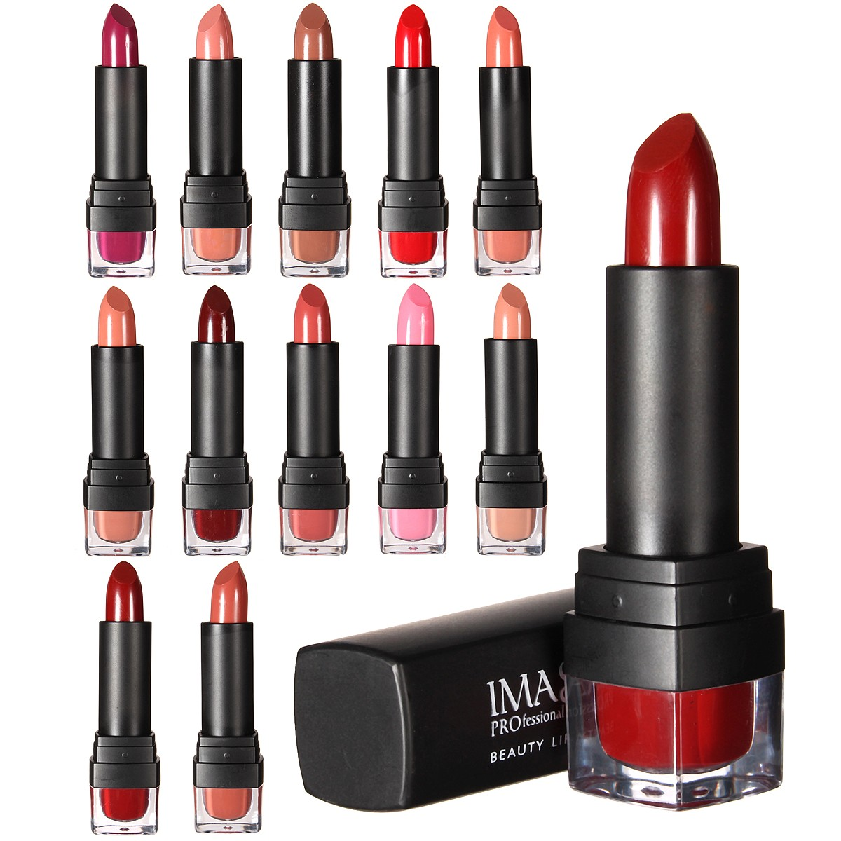 IMAgic 12 Colors Women Lipstick Long Lasting Lip Stick Gloss Beauty Cosmetic Makeup Tool